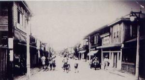 市制施行(昭和22年)当時の茅ヶ崎銀座通り
