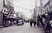 昭和35年の茅ヶ崎銀座通り
